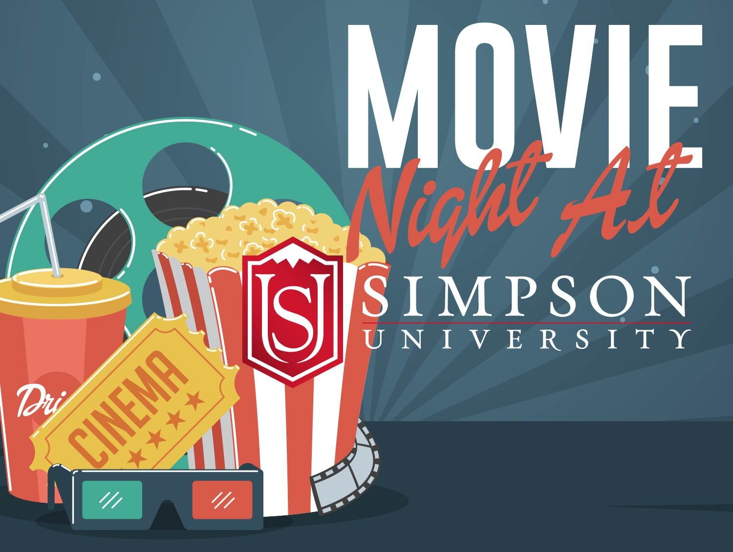 Simpson University Moive Night Visit Event