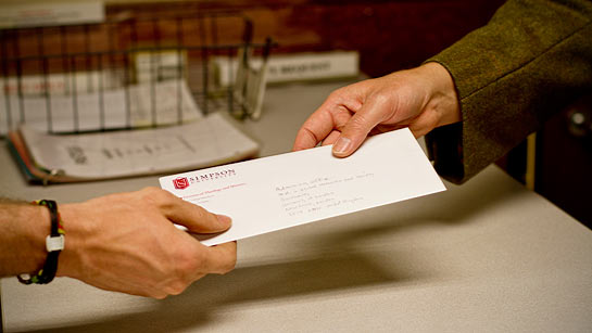 Simpson University's mail and copy services