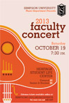 2013 Faculty Concert Poster