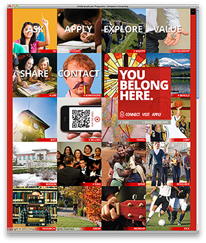 Screenshot of Simpson University's Undergraduate microsite