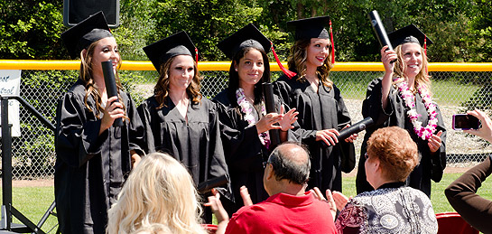 Five Simpson University softball players honored at an early graduation ceremony