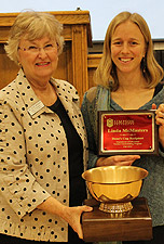 Dr. Glee Brooks, left, with Linda McMasters, recipient of the Dean's Cup award