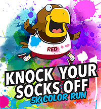Knock Your Socks Off 5k Color Run