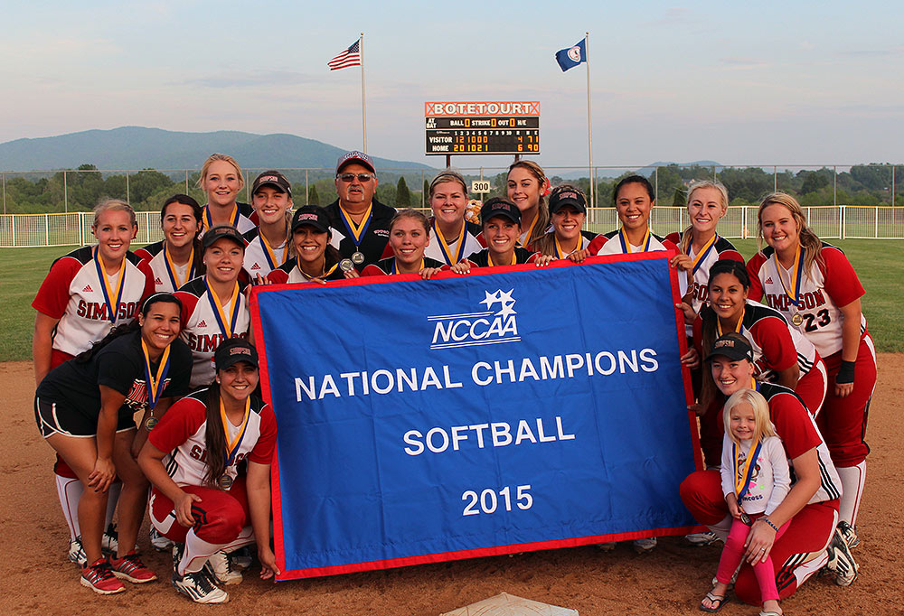 Softball Team Photo at NCCAA Tournament Championship