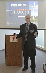 Dr. Tony Baron was the featured speaker at the ASPIRE Leaders Luncheon on March 19 at Simpson University