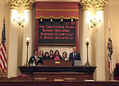 Simpson University Students at Capitol