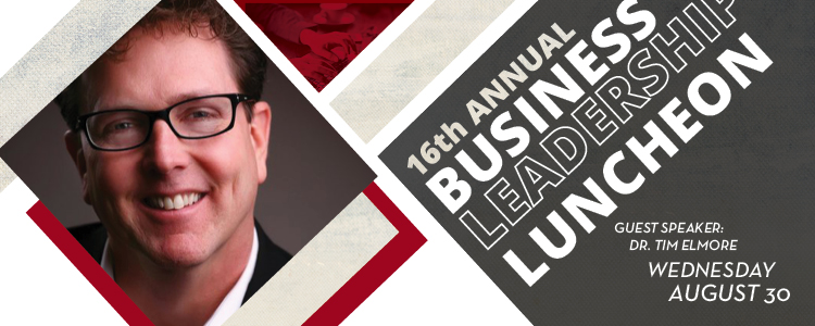 16th annual Simpson University Business Leadership Luncheon featuring Dr. Tim Elmore