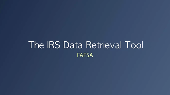IRS Data Retrival Tool
