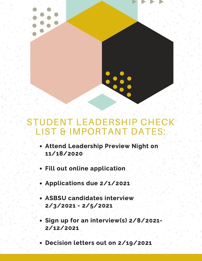 Student Leadership Checklist