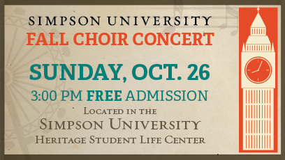 Simpson University's Music Department's Fall 2014 Choral Concert